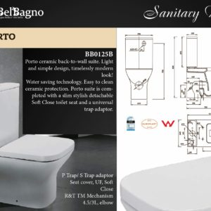 PORTO Toilet Suite BB0125B
